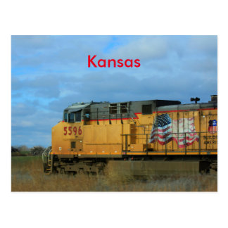 Kansas-Land-Zug POSTKARTE