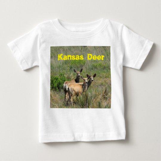 Kansas-Rotwild-Baby-Geldstrafe-Jersey-T - Shirt