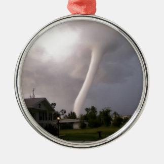 Kansas-Tornado Silbernes Ornament