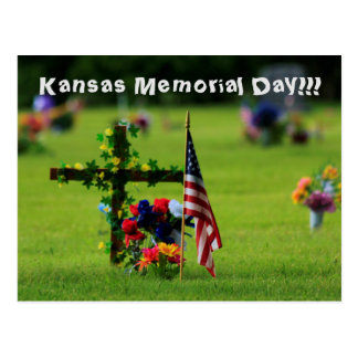 Kansas-Volkstrauertag-Postkarte Postkarte