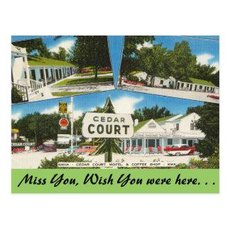 Kansas, Zedern-Gerichts-Motel Postkarte