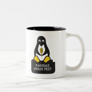 KansasLinuxfest-Tasse Zweifarbige Tasse