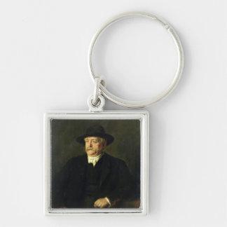 Kanzler Otto von Bismarck, 1849 Silberfarbener Quadratischer Schlüsselanhänger