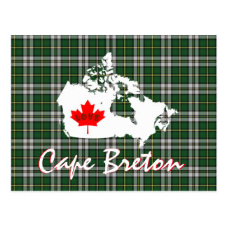 Kap bretonischer Tartan fertigen Kanada-Postkarte Postkarte