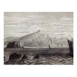 Kap Colonna, mit Ruinen des Tempels von Postkarte