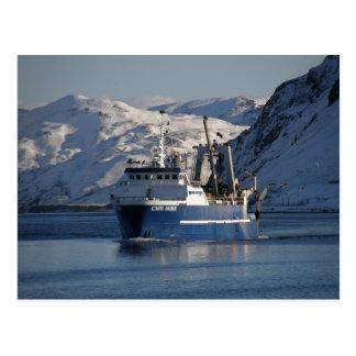 Kap Hoorn, Fabrik-Schleppnetzfischer im Postkarte