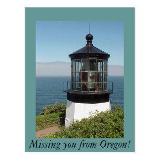Kap Mears helles Haus Oregon Postkarte
