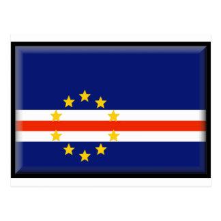 Kap-Verde Flagge Postkarte