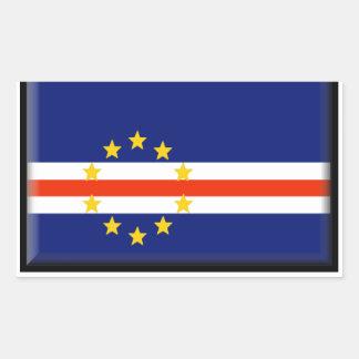 Kap-Verde Flagge Rechteckiger Aufkleber