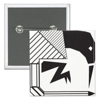 Kap-Zuckervogel (Stammes- Entwürfe) Quadratischer Button 5,1 Cm