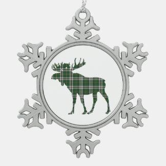 Kapbretonische Tartanelch-Schneeflockeverzierung Schneeflocken Zinn-Ornament
