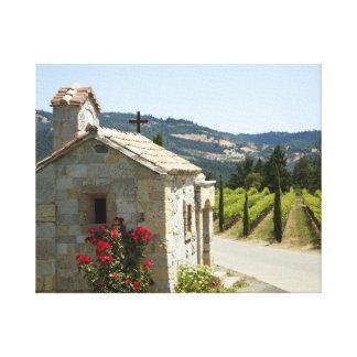 Kapelle bei Castello di Amorosa Leinwanddruck