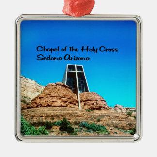 Kapelle des heiligen QuerSedona Arizona Silbernes Ornament