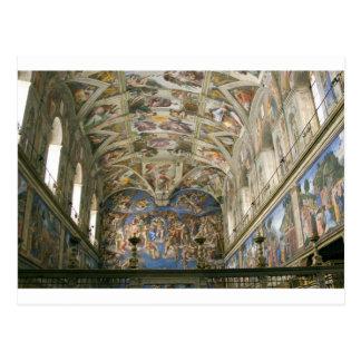 Kapelle Vatikans Sistine Postkarte