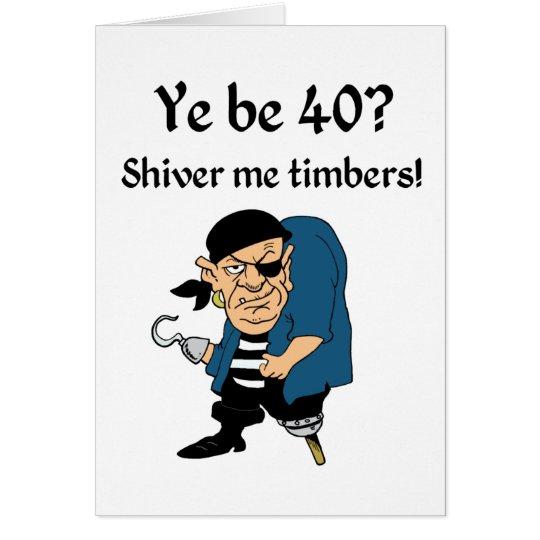 Kapern Sie 40. Geburtstag Grußkarte
