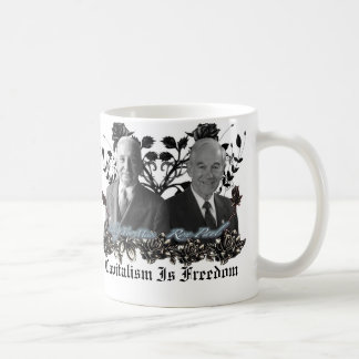 Kapitalismus-/der Freiheits-(Ron Paul, Mises) Kaffeetasse