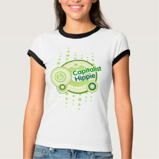 Kapitalistischer Hippie-Wecker-T - Shirt