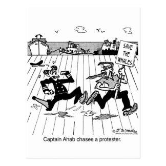 Kapitän Ahab jagt einen Protestierender Postkarten