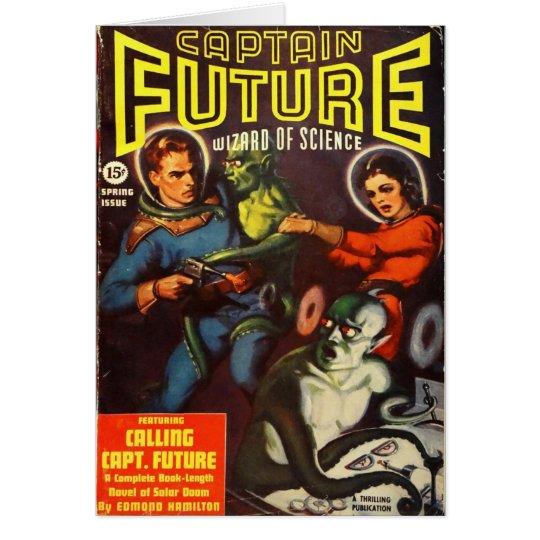 Kapitän Future und Solarschicksal Grußkarte