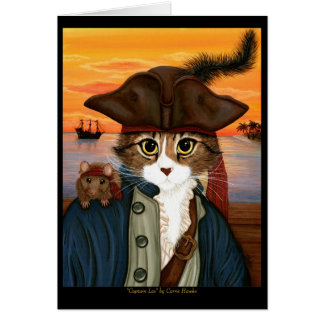 Kapitän Löwe, Piraten-Katze u. Grußkarte