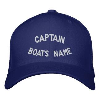 Kapitän mit Ihrem Bootsnamen Bestickte Kappe
