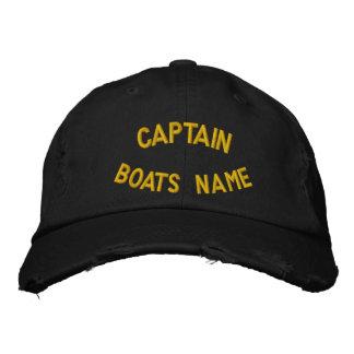 Kapitän mit Ihrem kundenspezifischen Bootsnamen Bestickte Baseballkappe