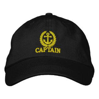 Kapitän mit Seemannankermotiv Bestickte Baseballkappe