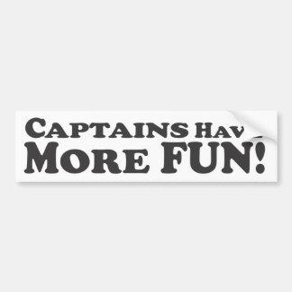 Kapitäne haben mehr Spaß! - Autoaufkleber