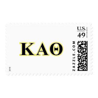 Kappa-Alpha Theta-Gelb und gotische Schriften Briefmarke