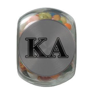 Kappa-Alphaauftrags-gotische Schriften Bonbonniere