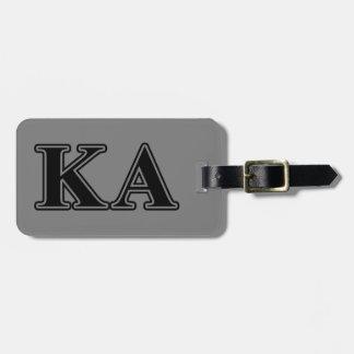 Kappa-Alphaauftrags-gotische Schriften Gepäckanhänger