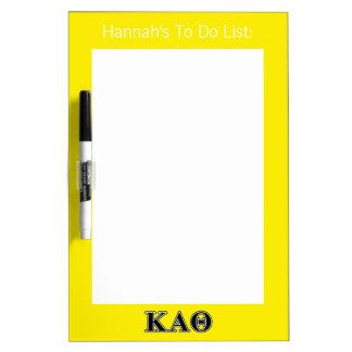 Kappa-Alphatheta-gotische Schriften Whiteboard