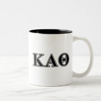 Kappa-Alphatheta-gotische Schriften Zweifarbige Tasse