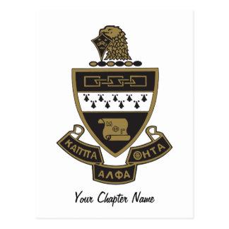 Kappa-Alphatheta-Wappen: Farbe Postkarte