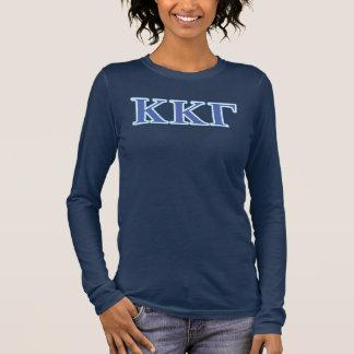 Kappa-Kappa-Gamma-Königsblau-und Langarm T-Shirt