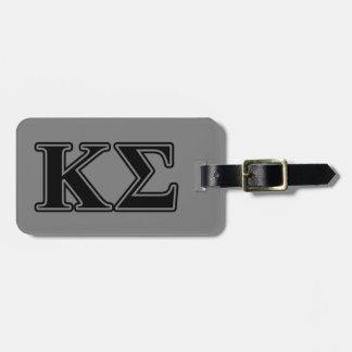 Kappa-Sigma-gotische Schriften Koffer Anhänger