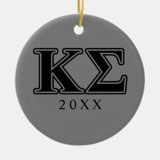 Kappa-Sigma-gotische Schriften Rundes Keramik Ornament
