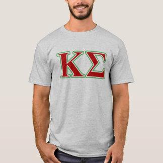 Kappa-Sigma-rote und grüne Buchstaben T-Shirt