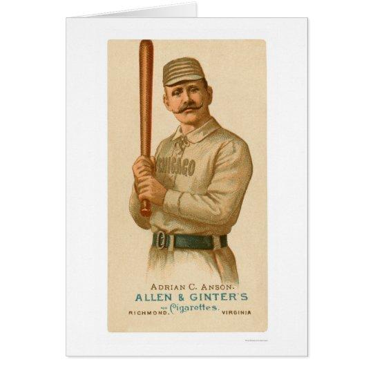 Kappe Anson Baseballkarte 1887 Grußkarte