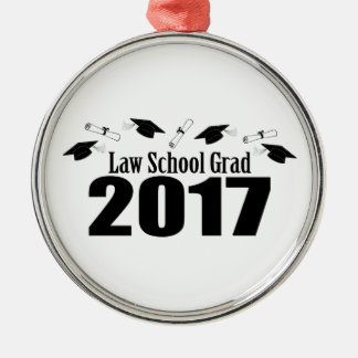 Kappen des juristische Fakultäts-Absolvent-2017 Silbernes Ornament