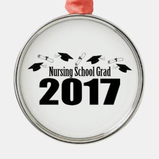 Kappen des Krankenpflege-Schulabsolvent-2017 und Silbernes Ornament