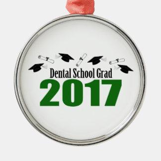 Kappen des zahnmedizinische Schulabsolvent-2017 Silbernes Ornament