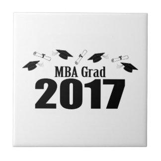 Kappen MBA-Absolvent-2017 und Diplome (Schwarzes) Fliese