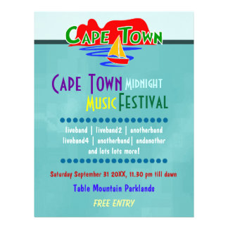 Kapstadt-Musik-Festival-Gewohnheits-Flyer
