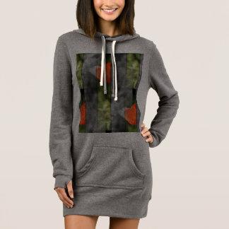 Kapuzekleid-Pullover Klatschmohn Kleid