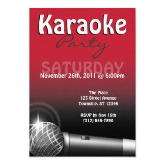 Karaoke-Party-Rot-Einladungen Karte