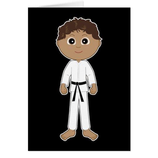 Karate-Glückwunsch-schwarzer Gürtel Karte