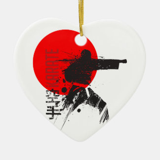 Karate Japan Keramik Herz-Ornament