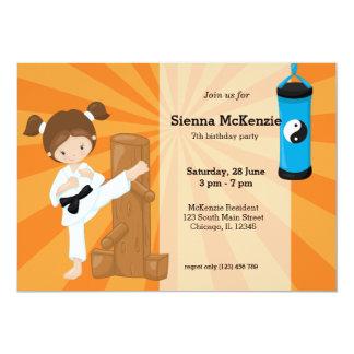 Karate-Kinder 12,7 X 17,8 Cm Einladungskarte