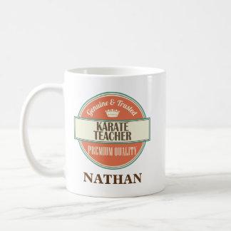 Karate-Lehrer-personalisiertes Kaffeetasse